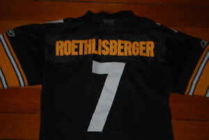 d0cd73eb8de Image is loading 7-Ben-Roethlisberger-Pittsburgh-Steelers-Stitched-Jersey -Youth-