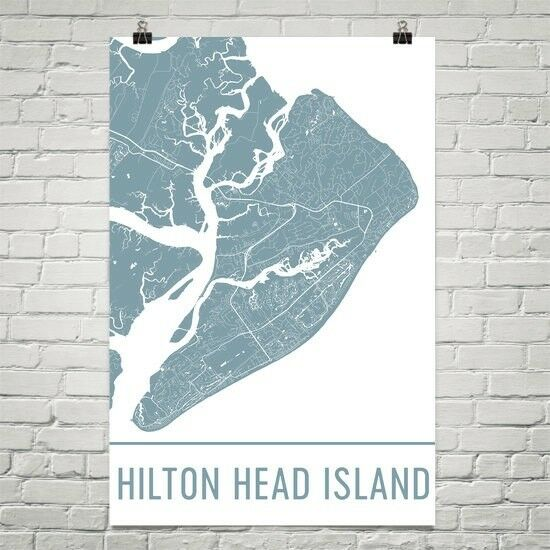 Hilton Head Island Street Map Poster