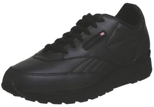 Reebok-Classic-Conquest-Clip-Leather-Black-Sneaker-Mens-Shoes-1-154987-Sz13-Rare