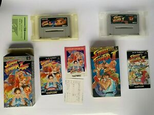 STREET-FIGHTER-2-and-sf2-turbo-COMPLETE-SUPER-FAMICOM-NINTENDO-SNES