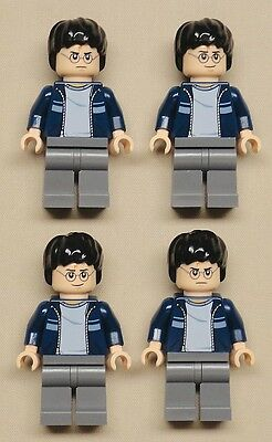x4 NEW Lego Harry Potter Minifigs 2 FACED one mad one happy