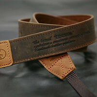 Vintage-30 Brown Slr Camera Neck Shoulder Leather Strap Canon Nikon Sony Olympus