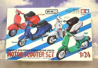 Vespa Gemma Tact Beluga Motor Scooter Set 1 24 Tamiya 1801 Rare For Sale Online Ebay
