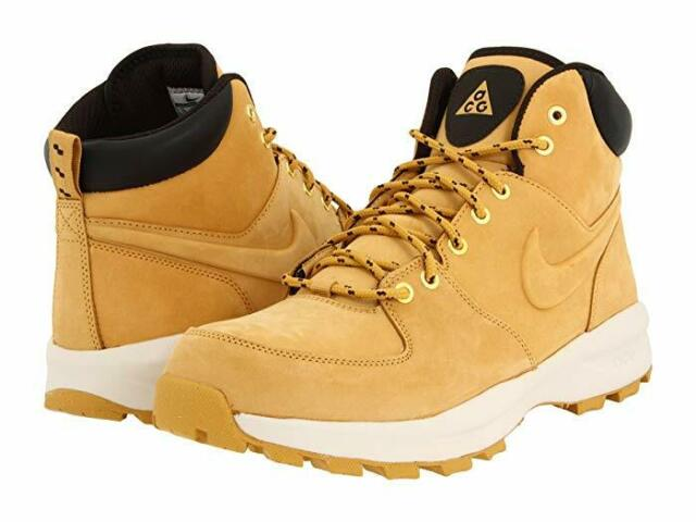 Nike Manoa Leather Boots Boots Leather Shoes Haystack Brown 454350 700 Mandara   eBay