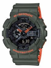 CRAZY DEAL NEW  G-SHOCK GA110LN-3A ARMY GREEN-ORANGE LAYERED ANA-DIGI WATCH