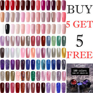 5ml-LEMOOC-Glitter-Color-Gel-Nail-Art-Soak-Off-UV-Gel-Polish-Buy-5-Get-5-Free