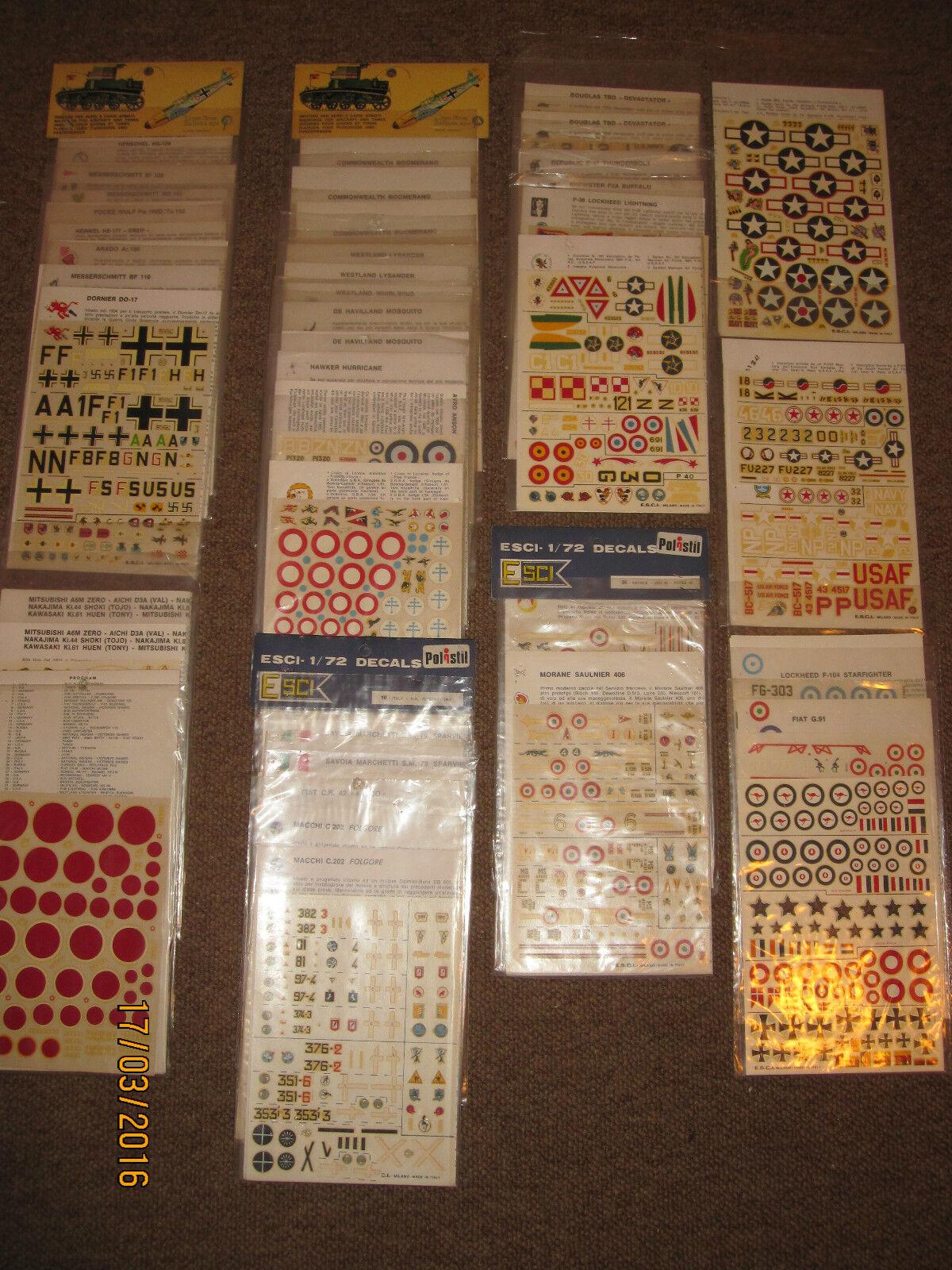 Lotto Decals Vintage Esci 1 72 - Aerei - Vendibili anche singolarmente