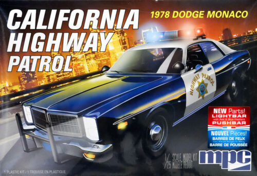 1978 Dodge Monaco California Highway Patrol 1:25 MPC Model Kit Bausatz MPC922