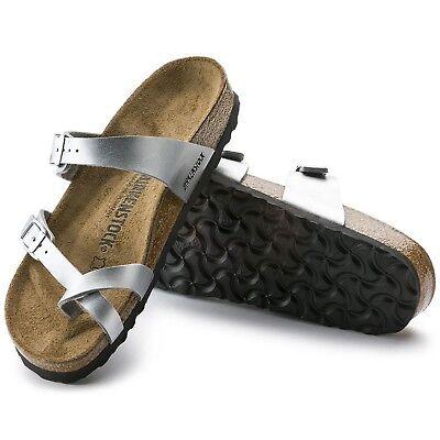 Birkenstock Mayari Toe Separator 36 37 38 39 40 Plain Silver Sandals 071081 NEW | eBay