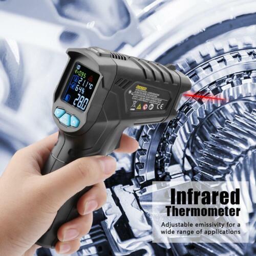 Mestek IR01D Affichage LCD Non-Contact Digital Infrarouge Thermomètre 50 ~ 800 ℃ SS