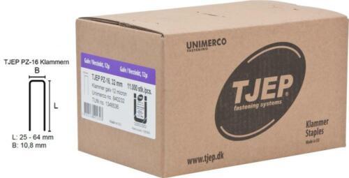 verzinkt und geharzt TJEP PZ-16 Klammern 32 mm