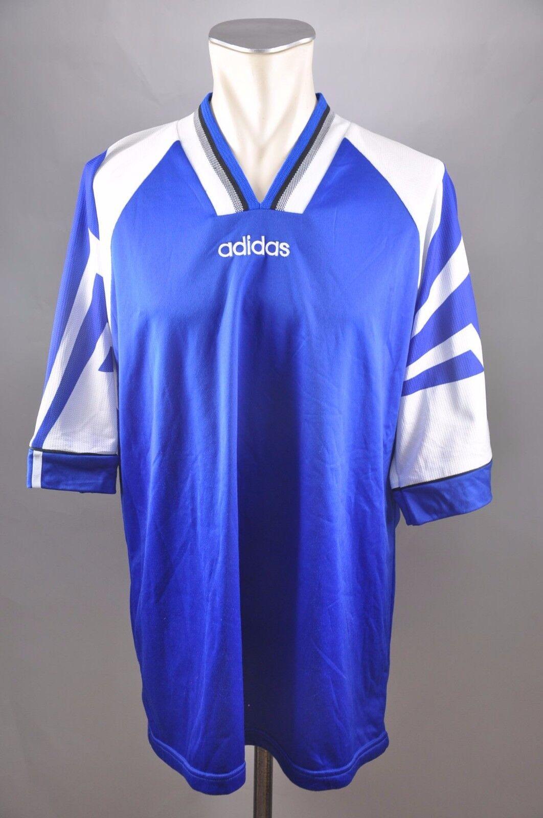 90er adidas Vintage Vintage Vintage Trikot Shirt Gr XL oldschool 90s Blau Rohling jersey 8934e0