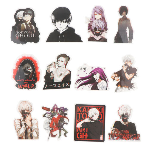 50Pcs Tokyo Ghoul Anime Stickers Waterproof Not Repeating Skateboard