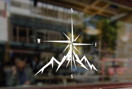 25 cm Compass Rose naviguer 4x4 offroad Vinyle autocollant Decal Voiture Auto Ordinateur Portable en verre
