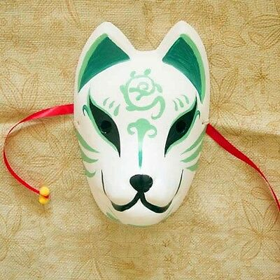 Japanese Fox Mask Kitsune Cosplay Full Face Hand-Painted Masquerade Halloween