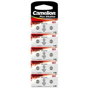 Blister-10-piles-bouton-Camelion-AG-1-LR60-LR621-364-EXPEDITION-FRANCE