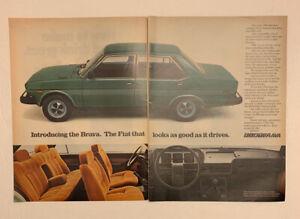 1980 Fiat: Brava Strada X1//9 Spider Vintage Print Ad