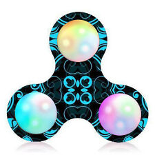 Court Pattern LED Licht Fidget Hand Spinner Stress Relief Manipulative Play Toys