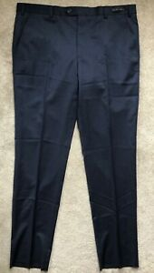 Ted-Baker-Herren-dunkelblau-034-masont-034-Wolle-Formelle-Hose-Pants-38r-NEU-amp-Tags