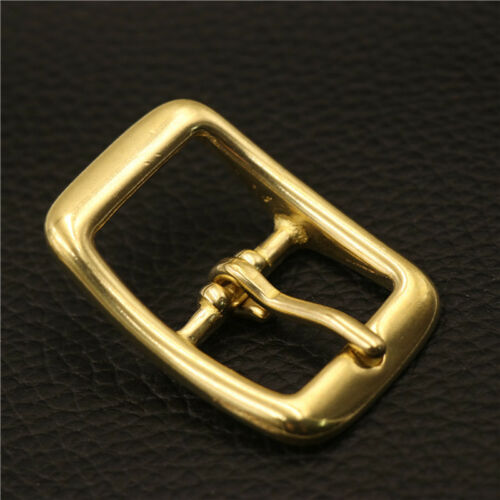 Solid Brass Rectangle Belt Bag Buckle Center Bar Pin Prong Leather Strap Repair