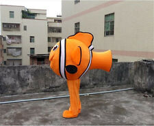 Nemo Clownfish Mascot Costume Fancy Party Dress dance game Cosplay Adults size2