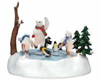 Lemax Santas Wonderland North Pole Skaters Animated Lighted 74666