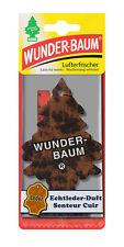 3  Stück WUNDERBAUM Echtleder-Duft Lufterfrischer