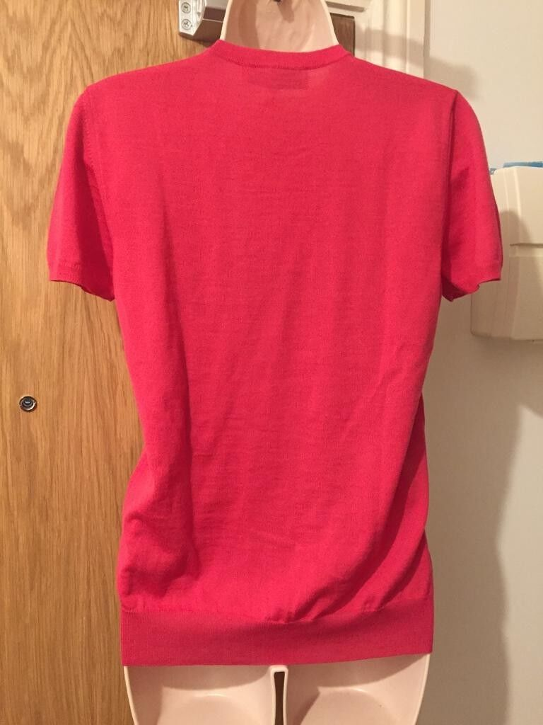 EMILIO PUCCI PUCCI PUCCI Pink Metallic Intarsia Knit Wool Blend Sweater Jumper Size Medium a8f631