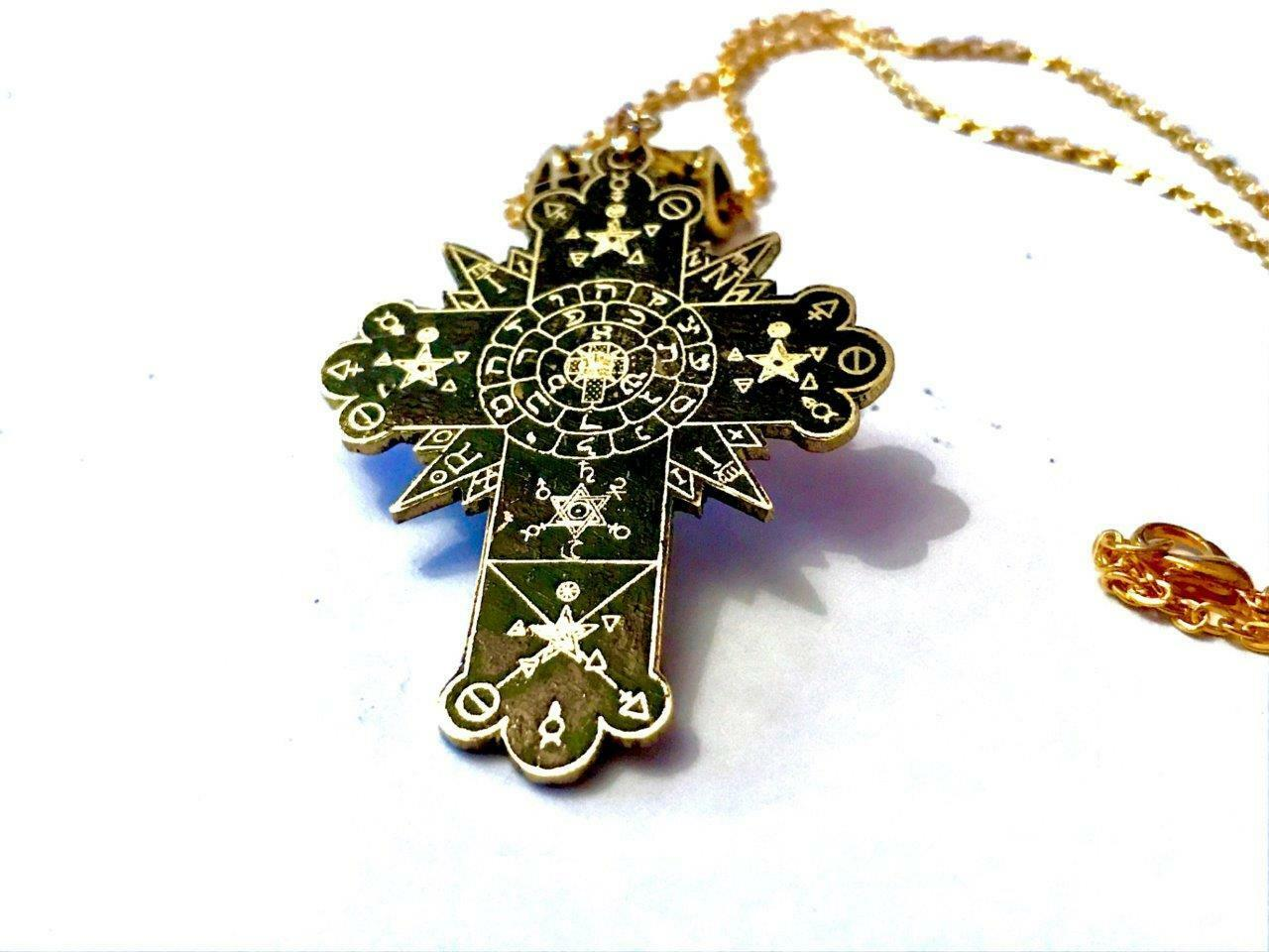 Golden dawn rose cross lamen talisman solid brass rosicrucian golden dawn rose cross lamen talisman solid brass rosicrucian occult magick mozeypictures Image collections