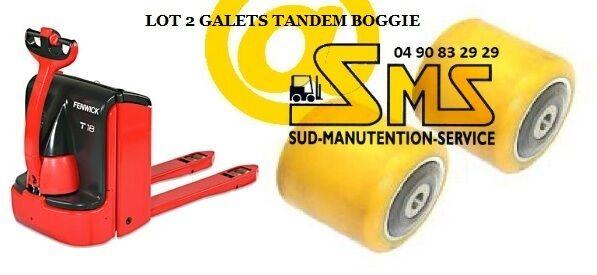 LOT 2 GALET GALET 2 85 80 85 12 mm TRANSPALETTE LINDE N20 N25 N20L N20LI N20LX <N°149P 1ad132