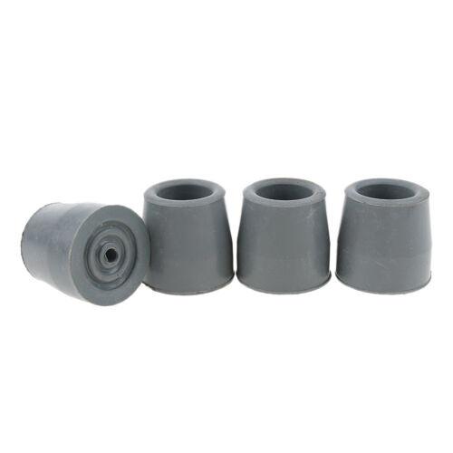 4 Pcs Rubber Walking Stick Ferrules Cane Pin Crutch Pads Caps Tip End Bottom