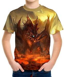 Dragon-039-s-Lair-Boys-Kid-Youth-T-Shirts-Tee-Age-3-13-ael40135