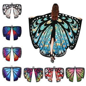 shopping Sconto del 60% 100% qualità Dettagli su Le donne grande con ali di farfalla scialle Stola sciarpa Wrap  Beach Costume Cosplay Festa- mostra il titolo originale