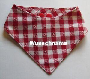 Hundehalstuch-Herzkaro-rot-mit-Namen-M-L-Halsumfang-44-48-cm-Handarbeit