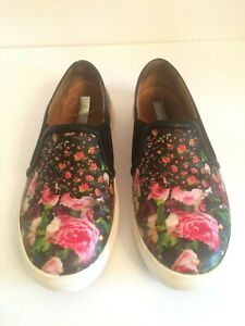 fc2a6c6d390 HALOGEN Floral Print Leather Slip-on Sneakers Loafers Shoes Women s ...