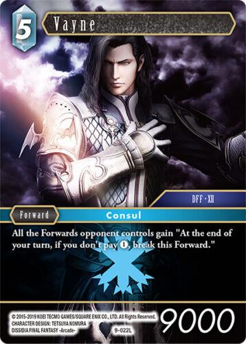 Vayne Non Foil Final Fantasy TCG 9-022 L Legendary Pack Fresh Opus 9