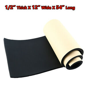 """1/2"""" Thick Closed-Cell Foam Rubber Sheet with Adhesive ..."""