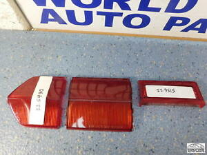 Fiat-124-Coupe-Tail-Light-Lenses-R-amp-L-Almost-Complete-NOS-1968-1969