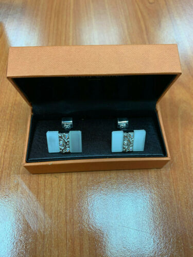 Men's Square Shape Cuff's Button Cufflinks with St
