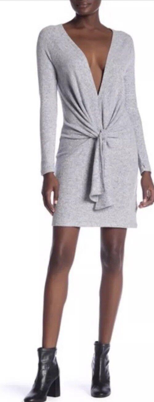 NWT Free People Ginger Cozy Tie Tie Tie Front Dress Medium  98 1ed9d3