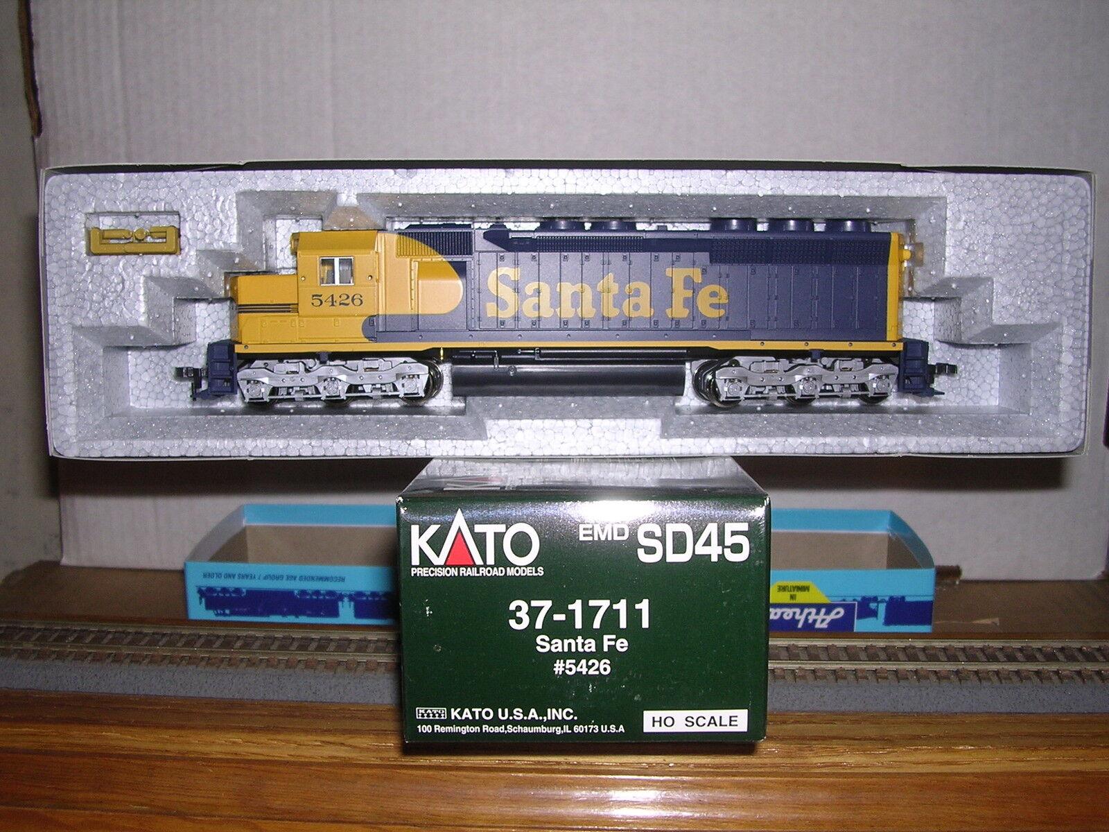 KATO  37-1746 Santa Fe Fe Fe Warbonnet EMD SD-45 Diesel Loco  5596 DC Operation 1 87 3c7363