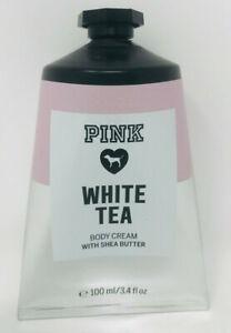 VICTORIA-039-S-SECRET-PINK-WHITE-TEA-BODY-CREAM-LOTION-HAND-SHEA-BUTTER-3-4-OZ