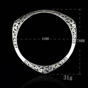 Women-Girls-925-Sterling-Silver-Carving-Cuff-Bracelet-Bangle-Lovers-Jewelry-Gift
