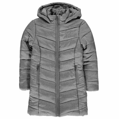 Lee Cooper Kids Girls AOP Long Jacket Junior Parka Coat Top Sleeve Hooded Zip