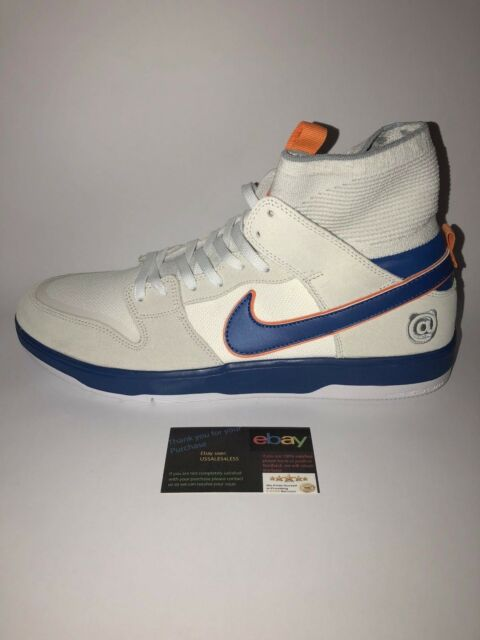 new arrival 54dd7 7036f Nike X Medicom SB Zoom Dunk Elite High Bearbrick White College Blue  918287-147 US 9