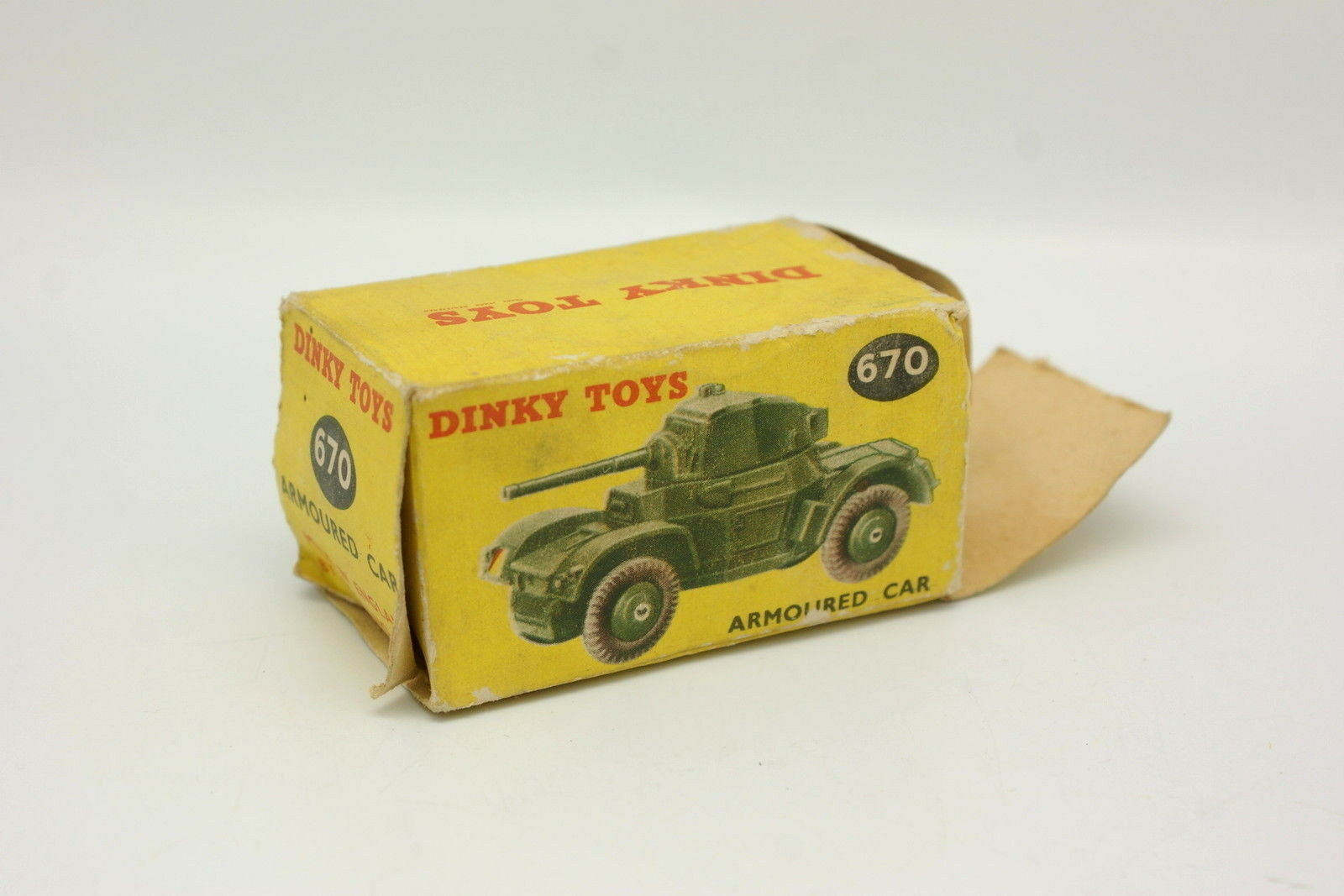 Dinky Toys GB 1 43 - Tanque Blindado blindado blindado blindado Car Militar 670 + Caja 23a3da