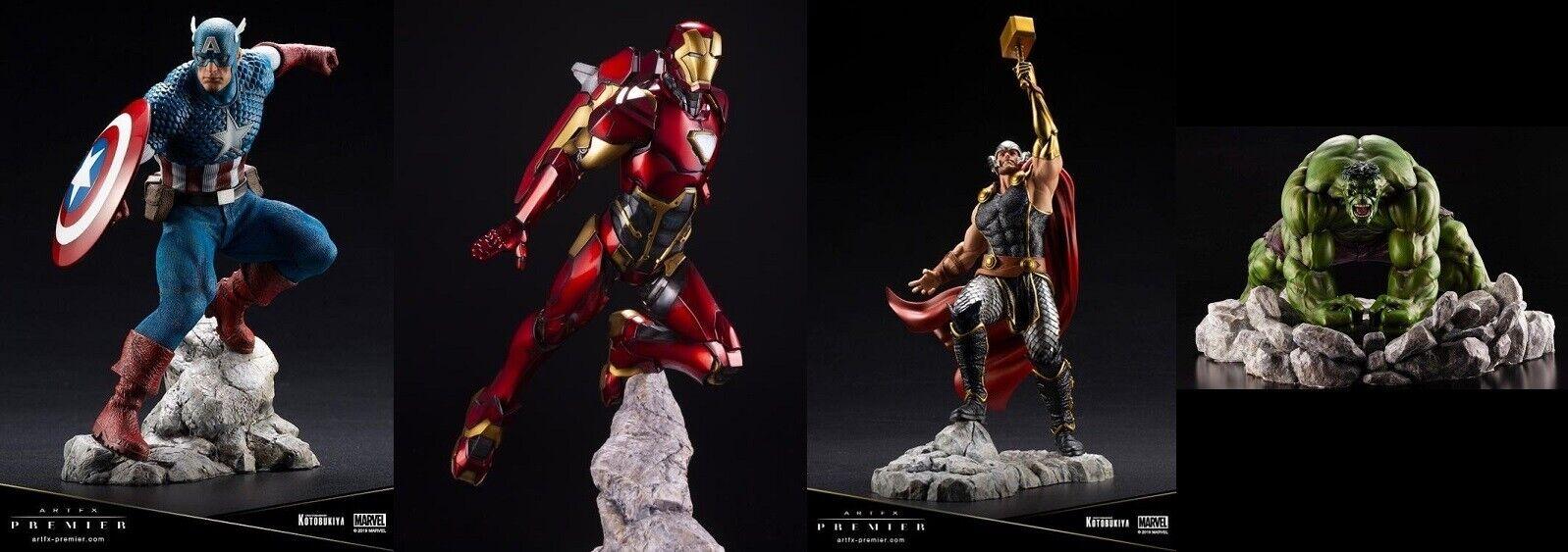 Kotobukiya Capitán América, Hulk, Iron Man, Thor 1 10 Artfx Premier conjunto pre-ordenar