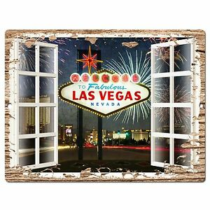 PP0611 French Window Las Vegas Plate Chic Sign Shop Store