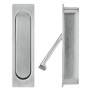 Sliding Door Handles >> Details About Delf Edge Pull Sliding Door Handle Spring Loaded Brushed Nickel