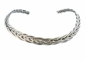 Cuff-Necklace-Stainless-Steel-Six-Strand-Lifetime-Guarantee